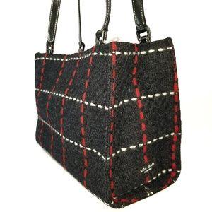 Vintage Kate Spade Authentic Plaid Tote Bag Navy